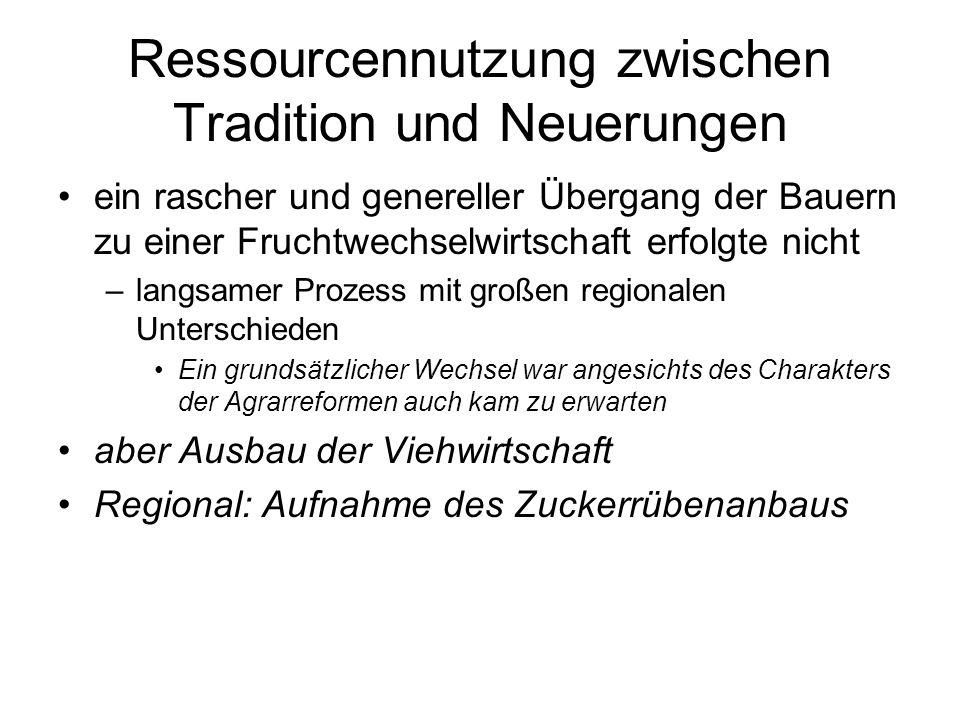 Ressourcennutzung zwischen Tradition und Neuerungen