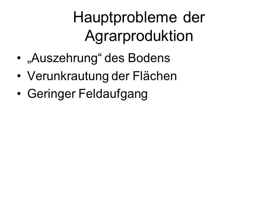 Hauptprobleme der Agrarproduktion