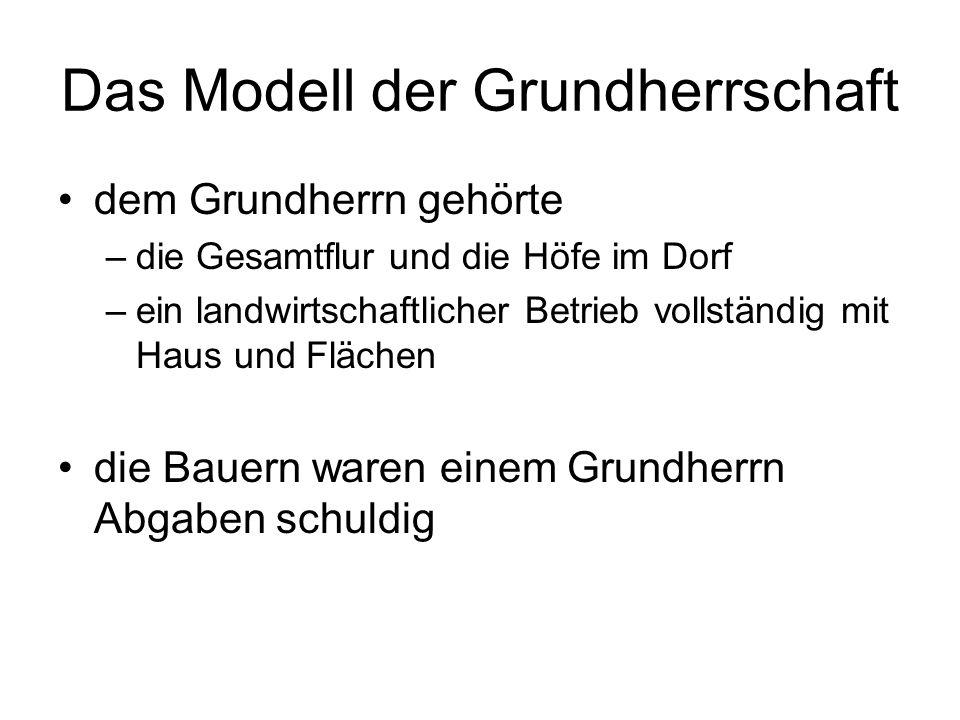 Das Modell der Grundherrschaft