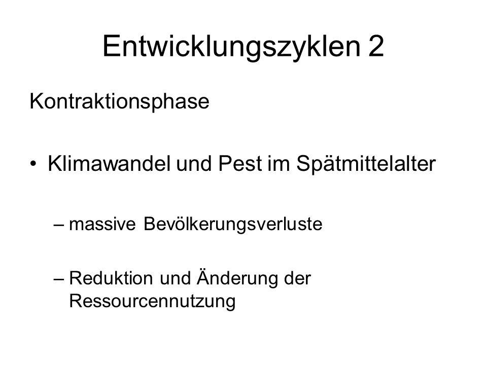 Entwicklungszyklen 2 Kontraktionsphase
