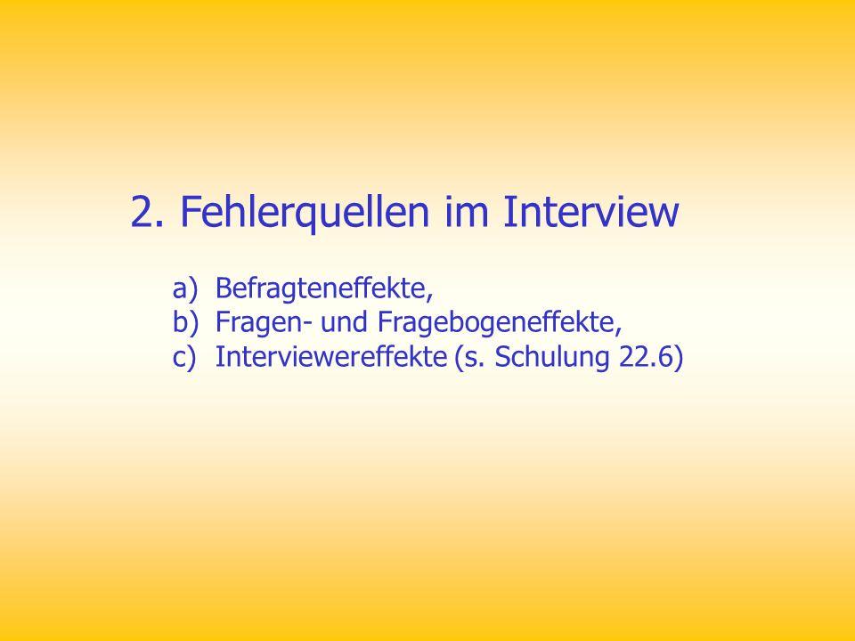 2. Fehlerquellen im Interview