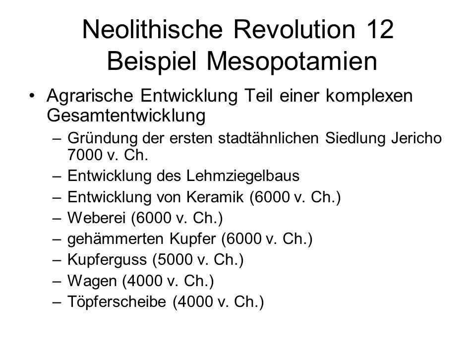 Neolithische Revolution 12 Beispiel Mesopotamien