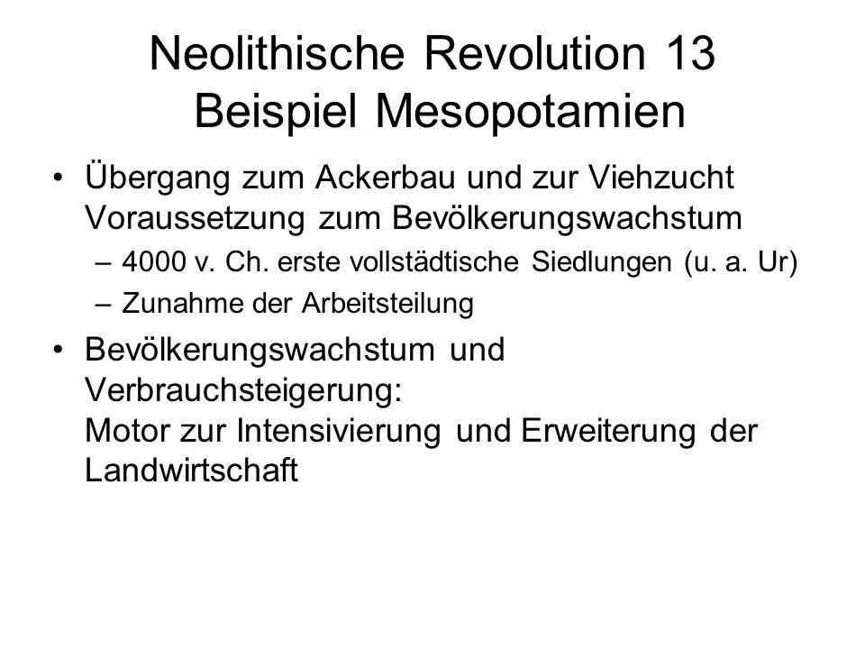 Neolithische Revolution 13 Beispiel Mesopotamien