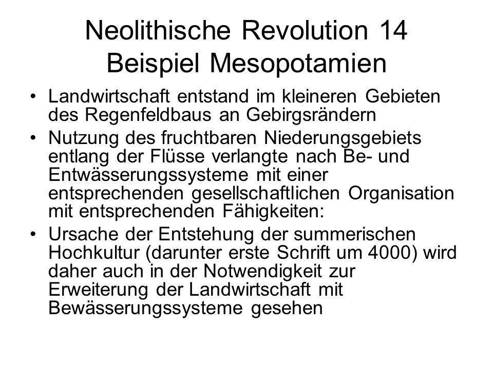 Neolithische Revolution 14 Beispiel Mesopotamien
