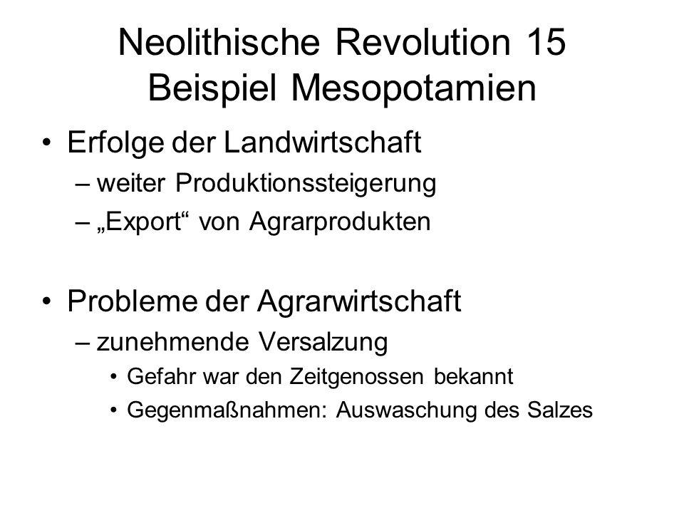 Neolithische Revolution 15 Beispiel Mesopotamien