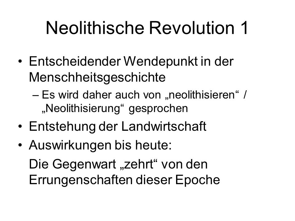 Neolithische Revolution 1