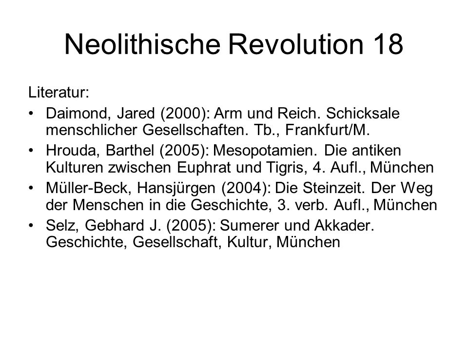 Neolithische Revolution 18
