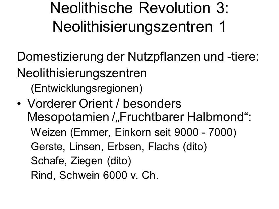 Neolithische Revolution 3: Neolithisierungszentren 1