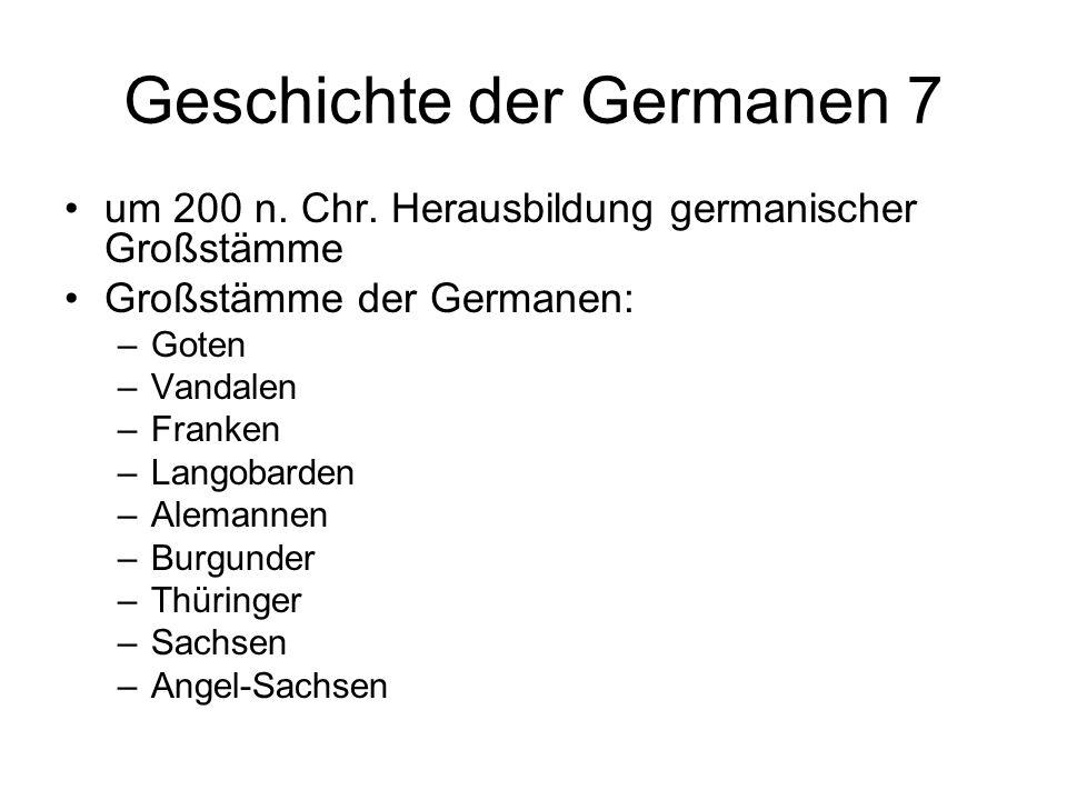 Geschichte der Germanen 7