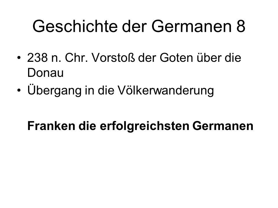 Geschichte der Germanen 8