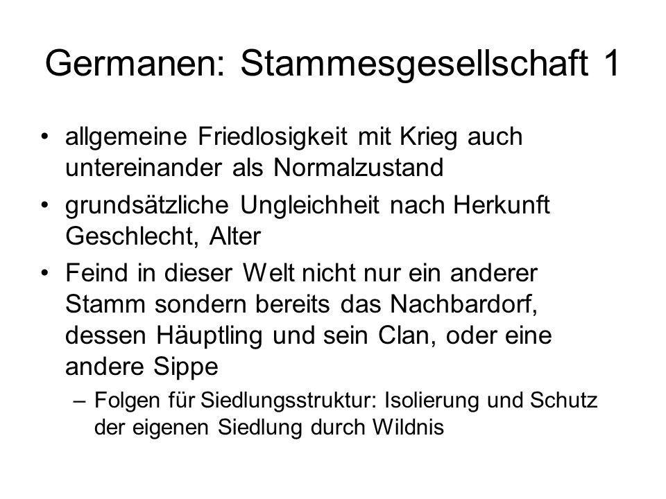 Germanen: Stammesgesellschaft 1