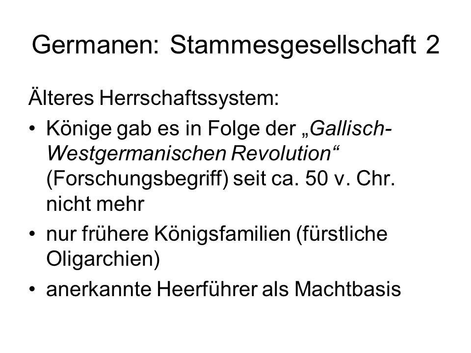 Germanen: Stammesgesellschaft 2