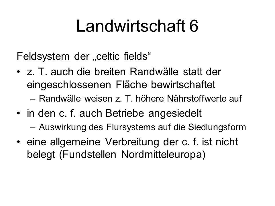 "Landwirtschaft 6 Feldsystem der ""celtic fields"