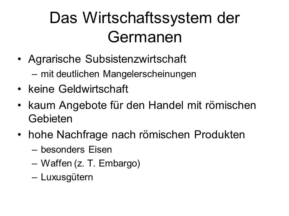 Das Wirtschaftssystem der Germanen