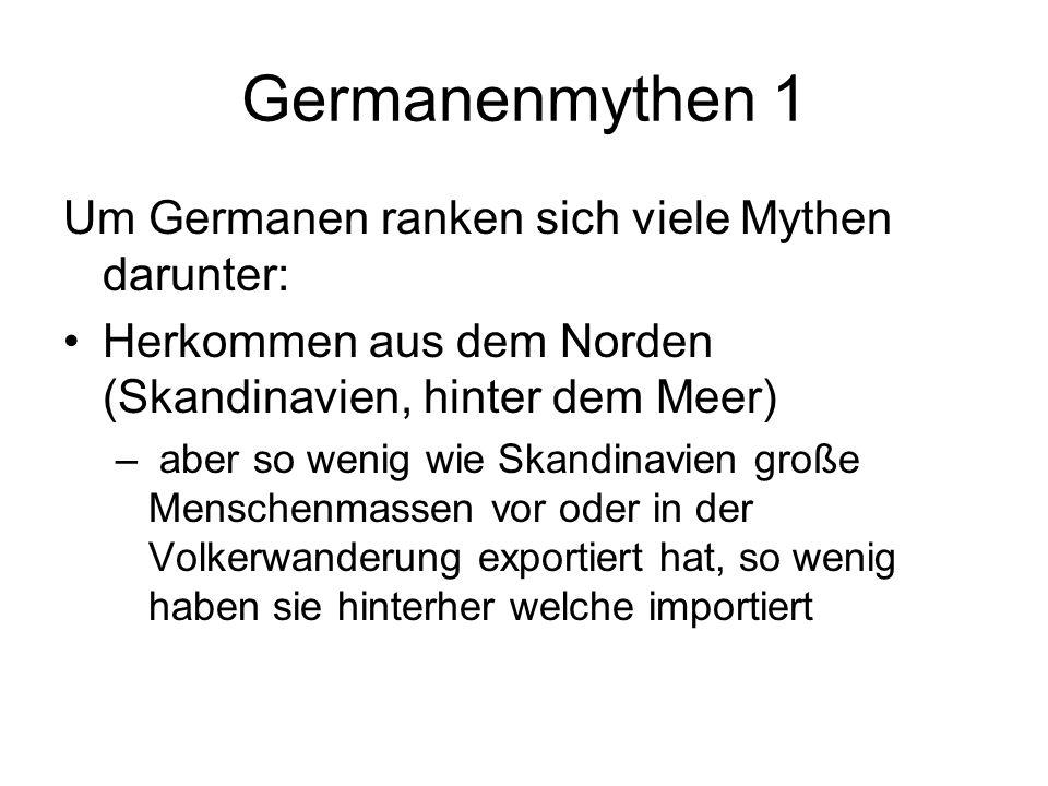 Germanenmythen 1 Um Germanen ranken sich viele Mythen darunter: