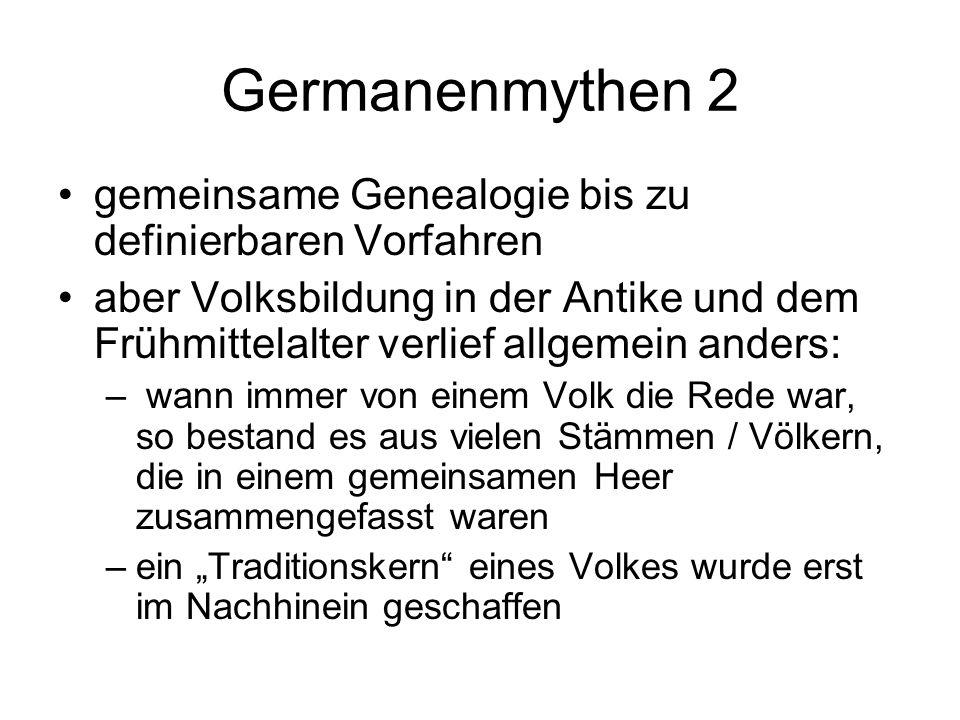 Germanenmythen 2 gemeinsame Genealogie bis zu definierbaren Vorfahren