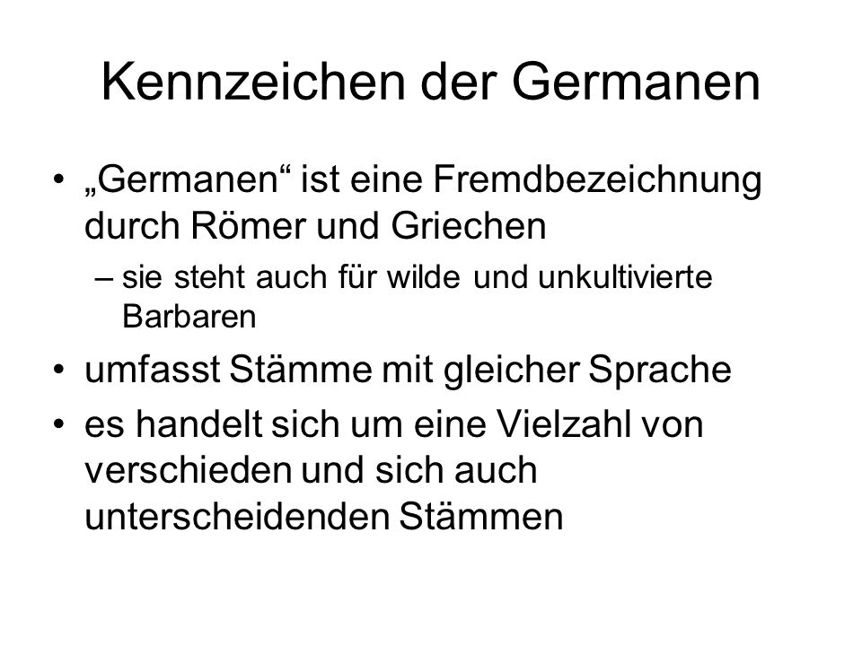 Kennzeichen der Germanen