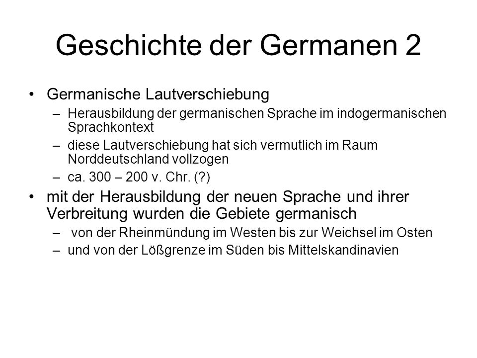 Geschichte der Germanen 2