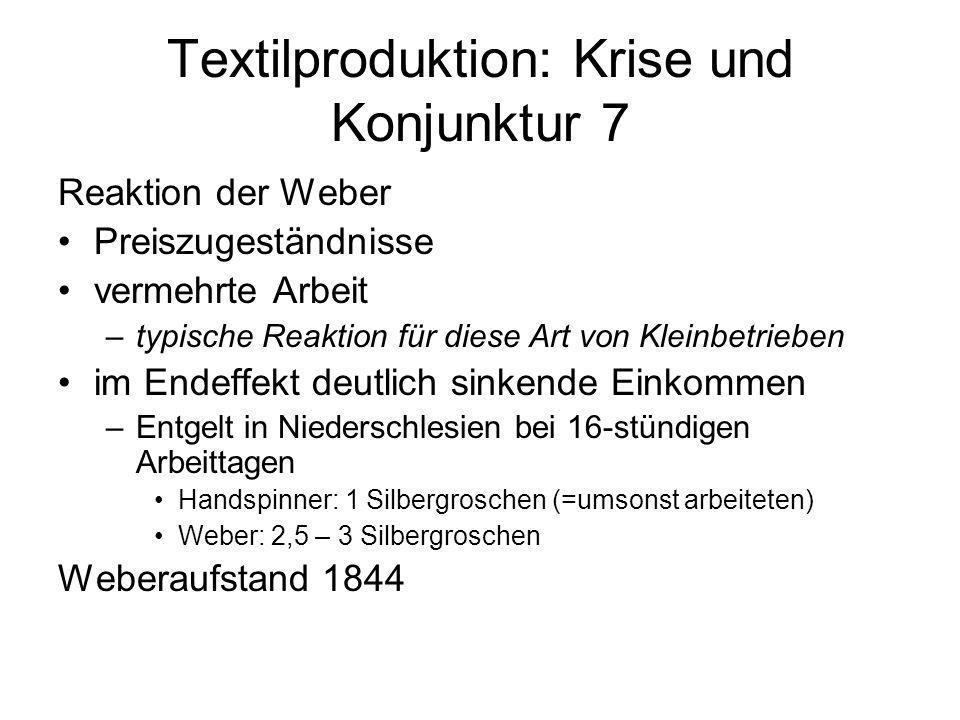 Textilproduktion: Krise und Konjunktur 7