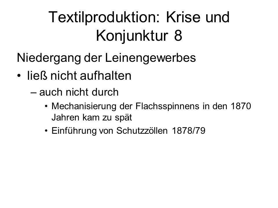 Textilproduktion: Krise und Konjunktur 8