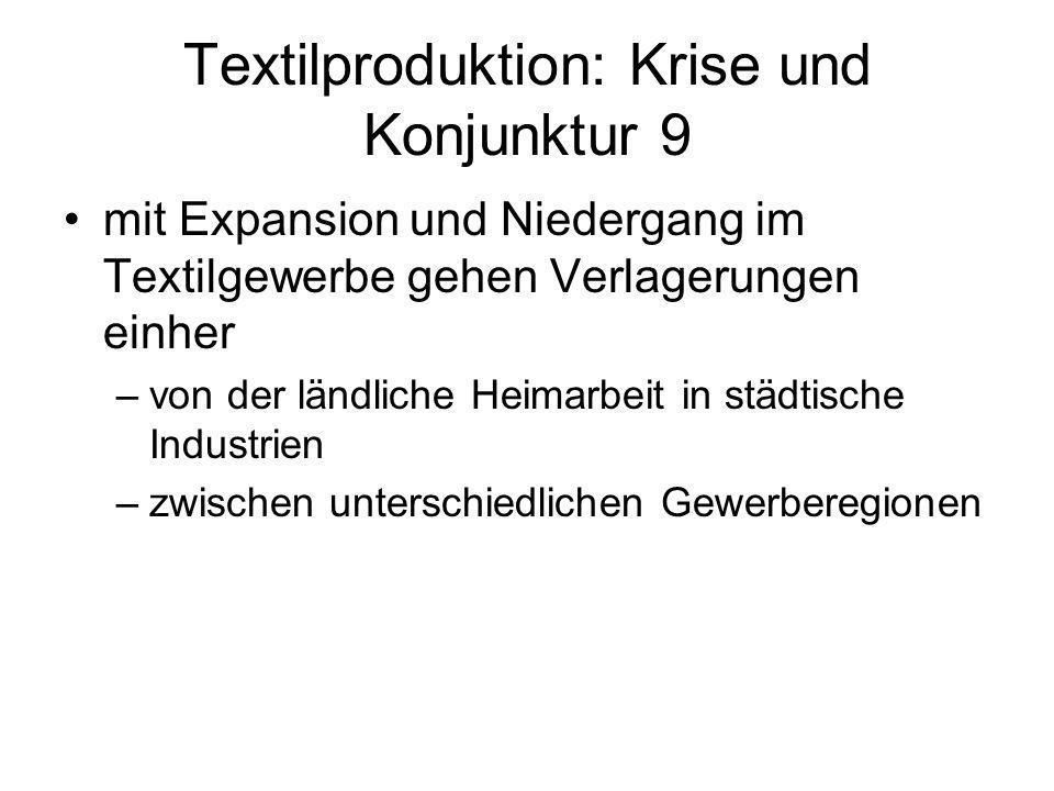 Textilproduktion: Krise und Konjunktur 9