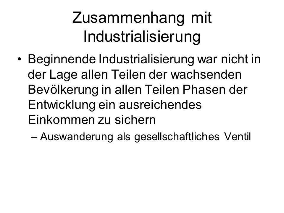 Zusammenhang mit Industrialisierung