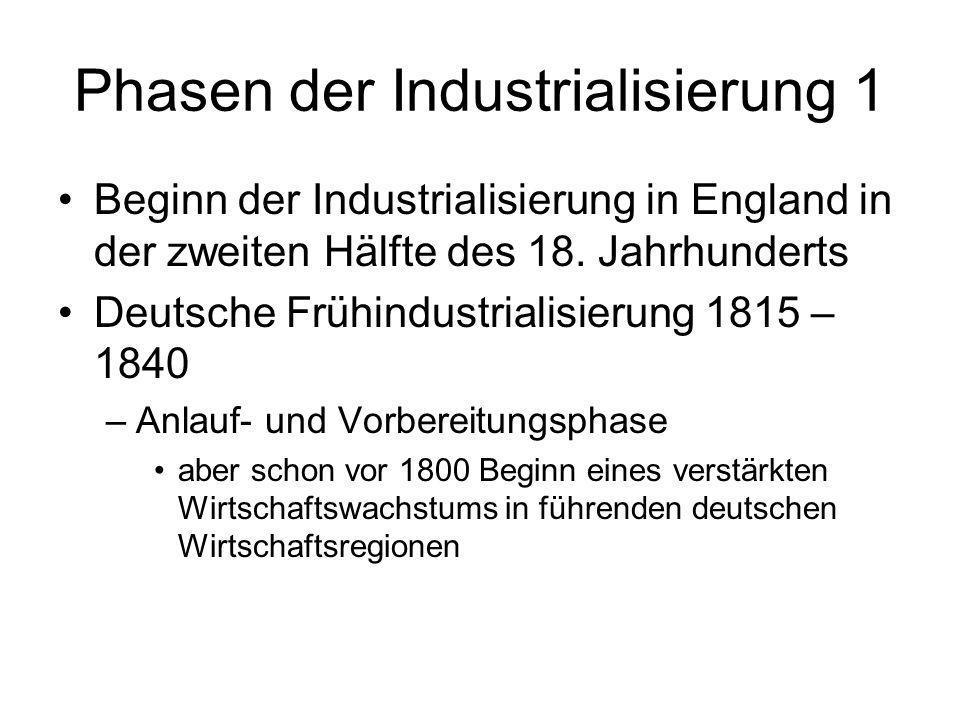 Phasen der Industrialisierung 1