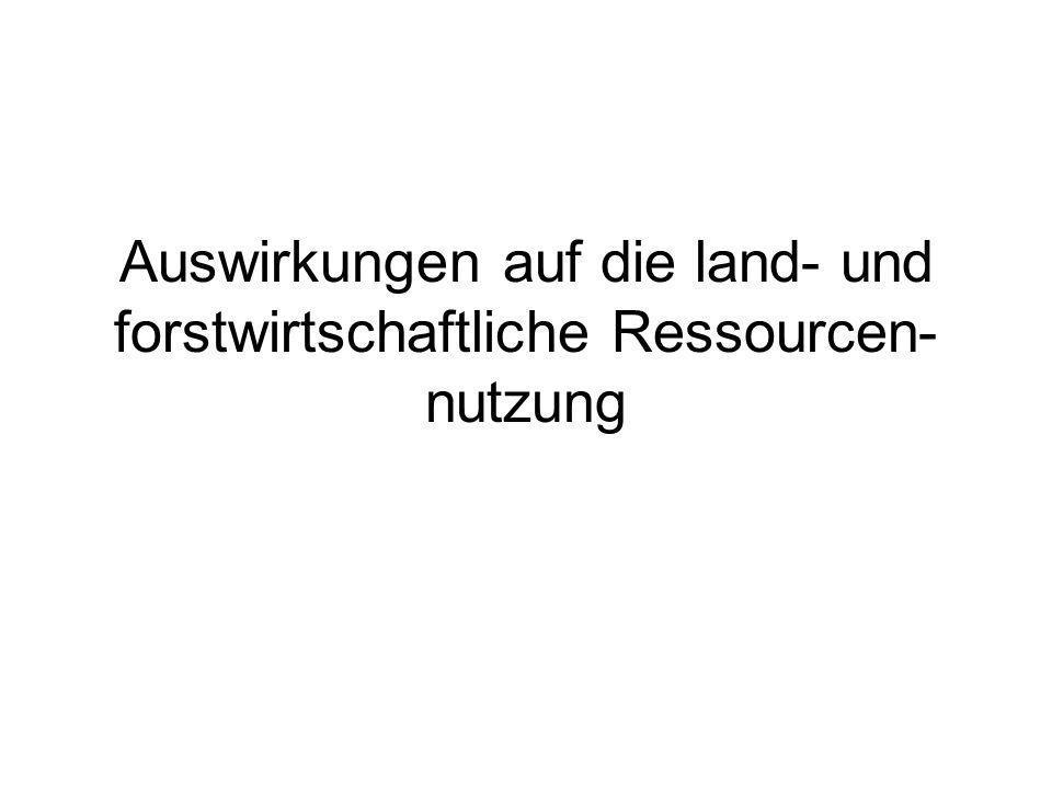 Auswirkungen auf die land- und forstwirtschaftliche Ressourcen-nutzung