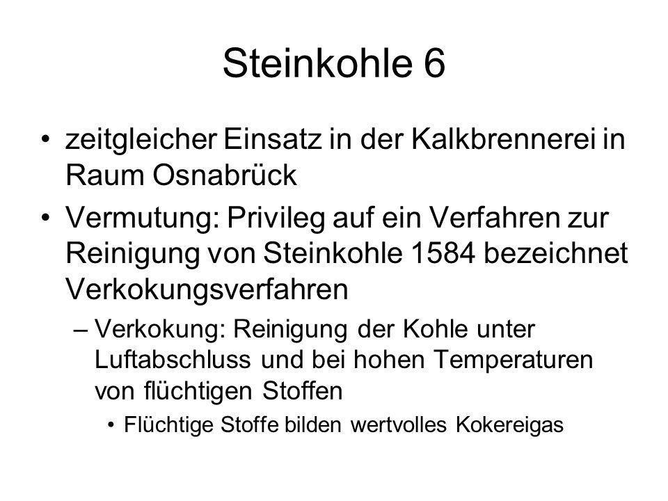Steinkohle 6 zeitgleicher Einsatz in der Kalkbrennerei in Raum Osnabrück.