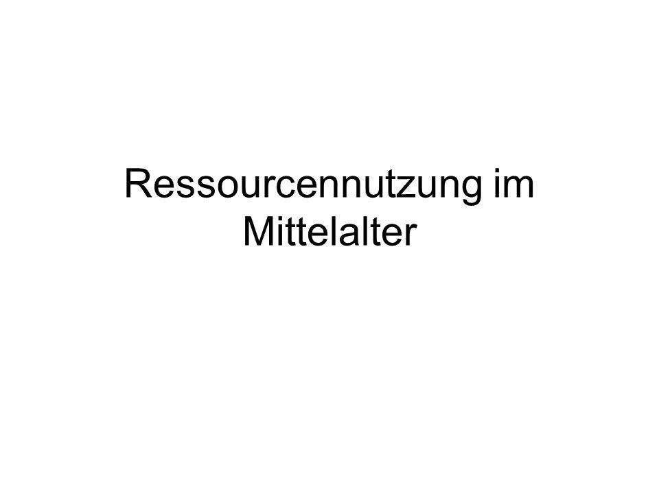 Ressourcennutzung im Mittelalter