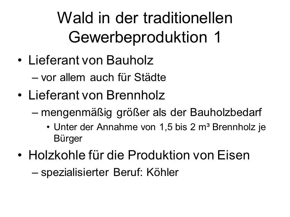 Wald in der traditionellen Gewerbeproduktion 1