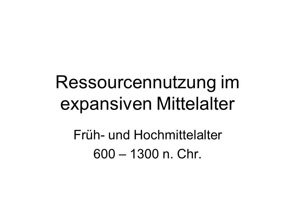 Ressourcennutzung im expansiven Mittelalter