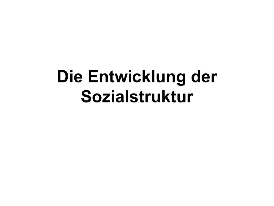 Die Entwicklung der Sozialstruktur