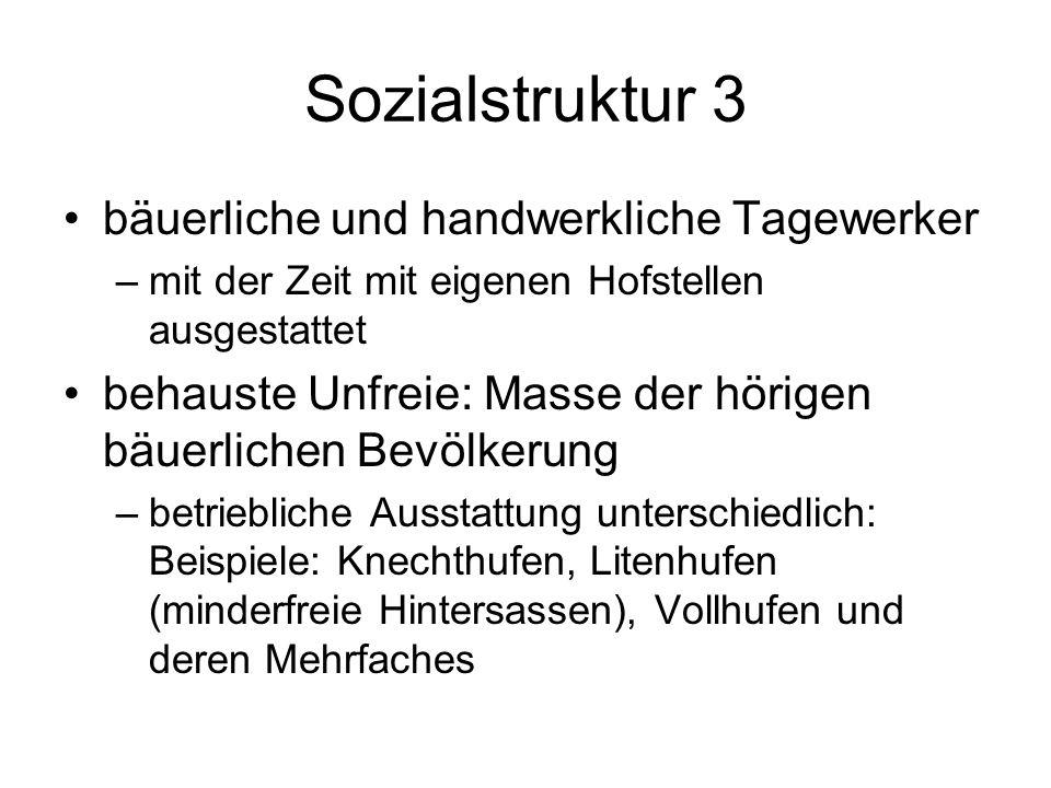 Sozialstruktur 3 bäuerliche und handwerkliche Tagewerker