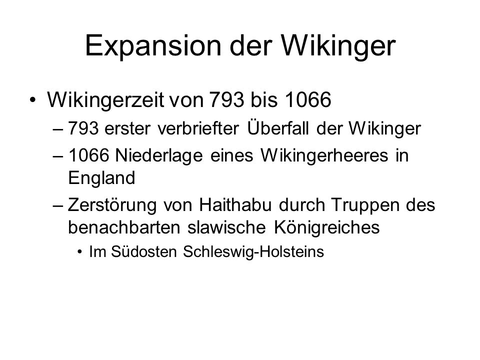 Expansion der Wikinger