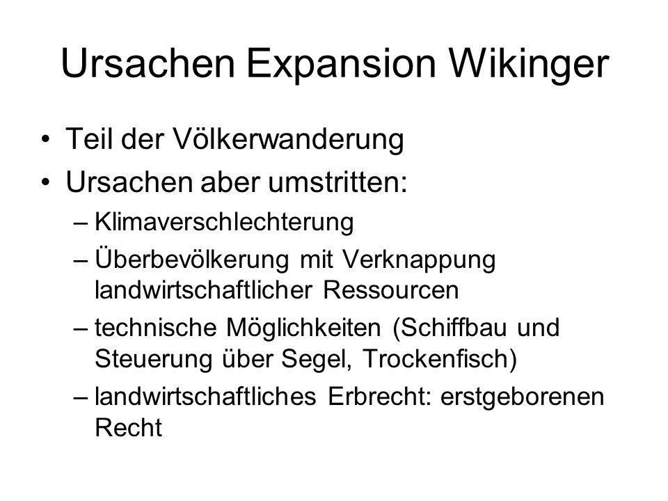 Ursachen Expansion Wikinger