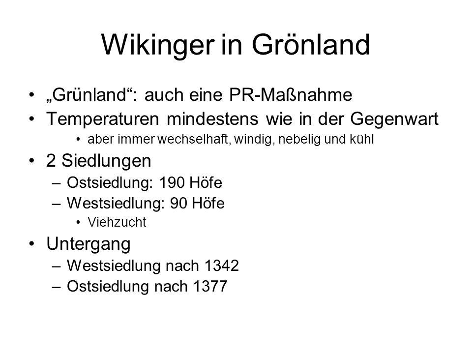 """Wikinger in Grönland """"Grünland : auch eine PR-Maßnahme"""