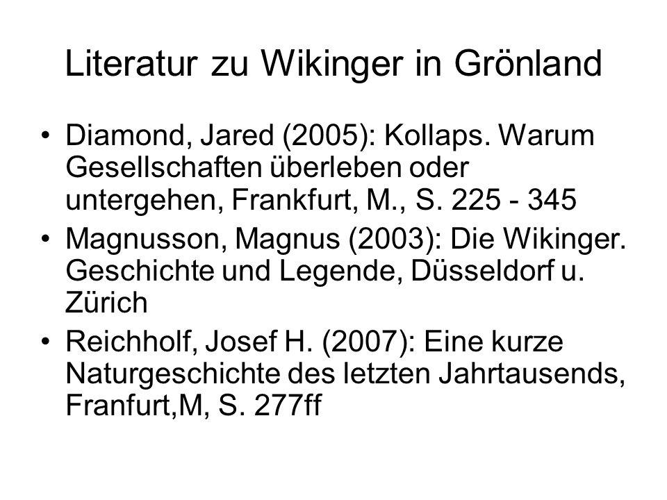 Literatur zu Wikinger in Grönland