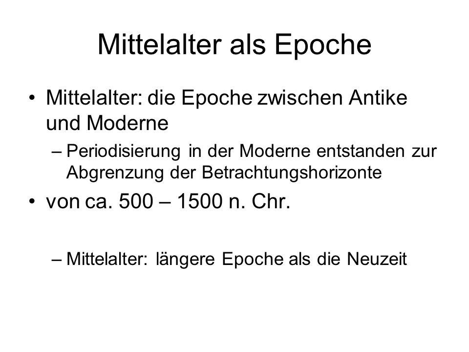 Mittelalter als Epoche