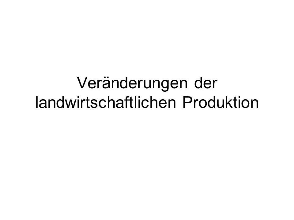 Veränderungen der landwirtschaftlichen Produktion