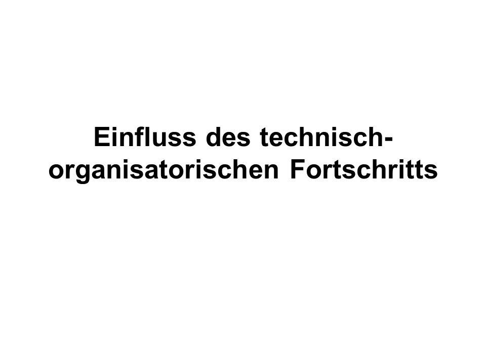 Einfluss des technisch-organisatorischen Fortschritts