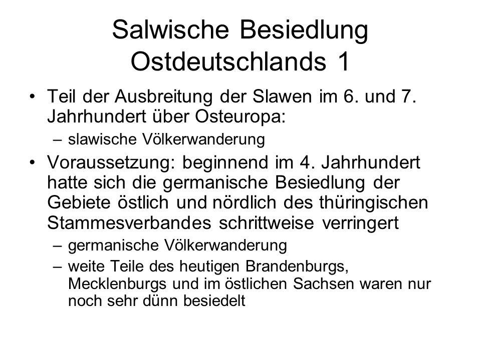 Salwische Besiedlung Ostdeutschlands 1