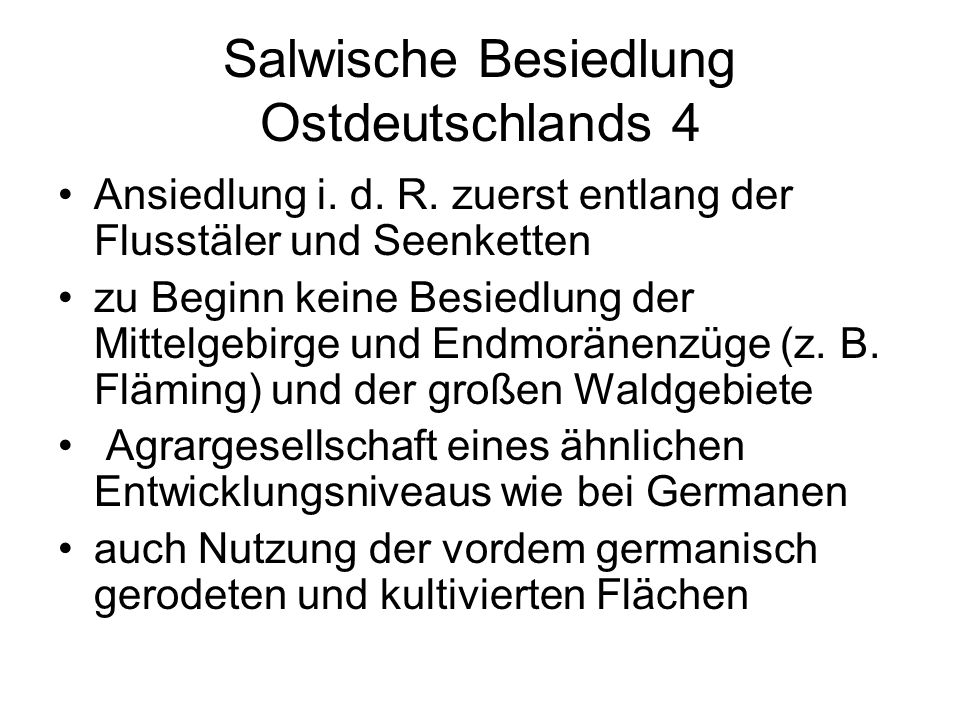Salwische Besiedlung Ostdeutschlands 4