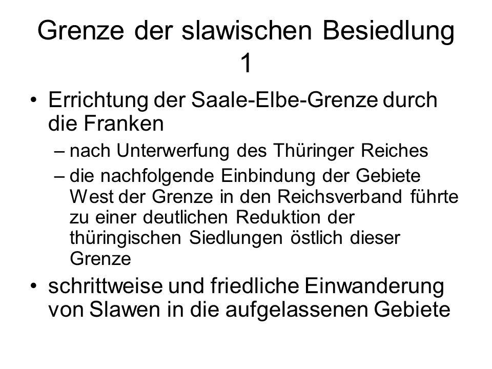 Grenze der slawischen Besiedlung 1