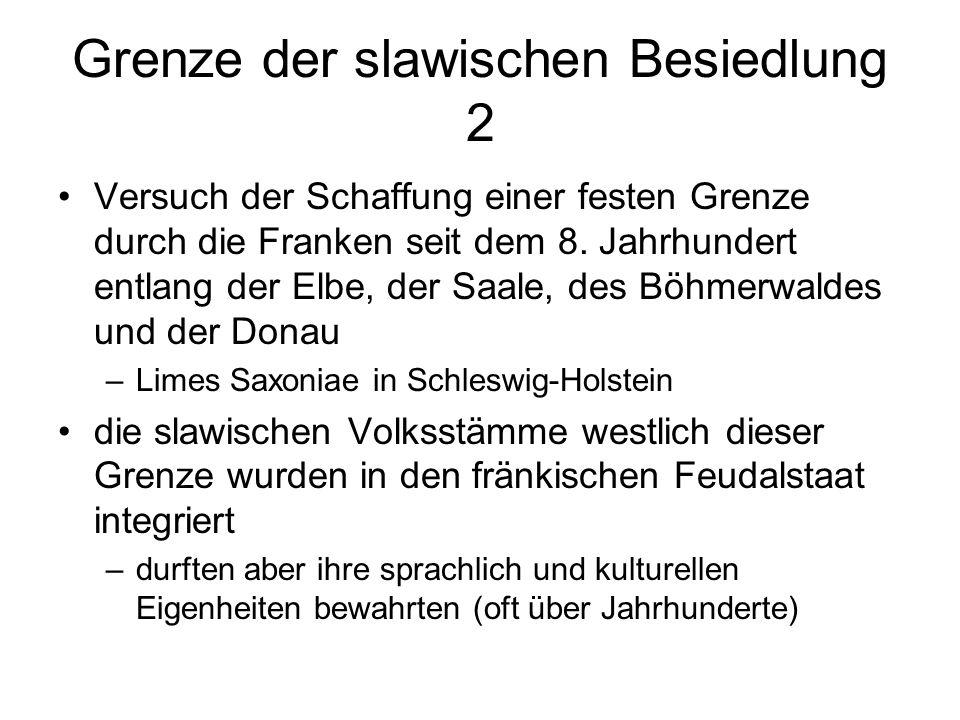 Grenze der slawischen Besiedlung 2