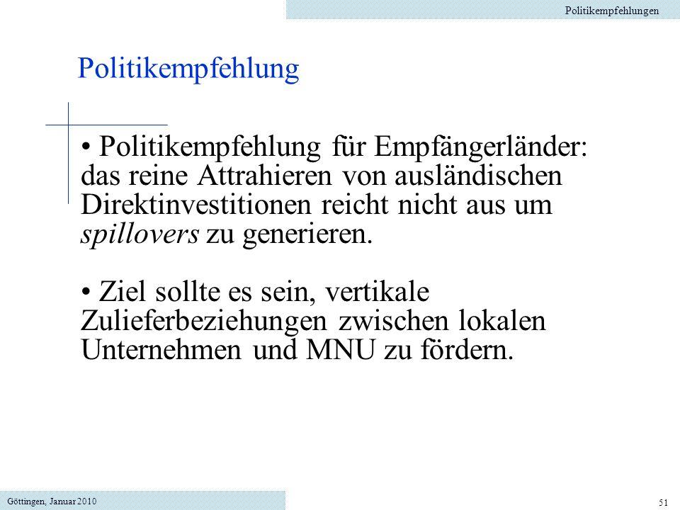 Politikempfehlungen Politikempfehlung.