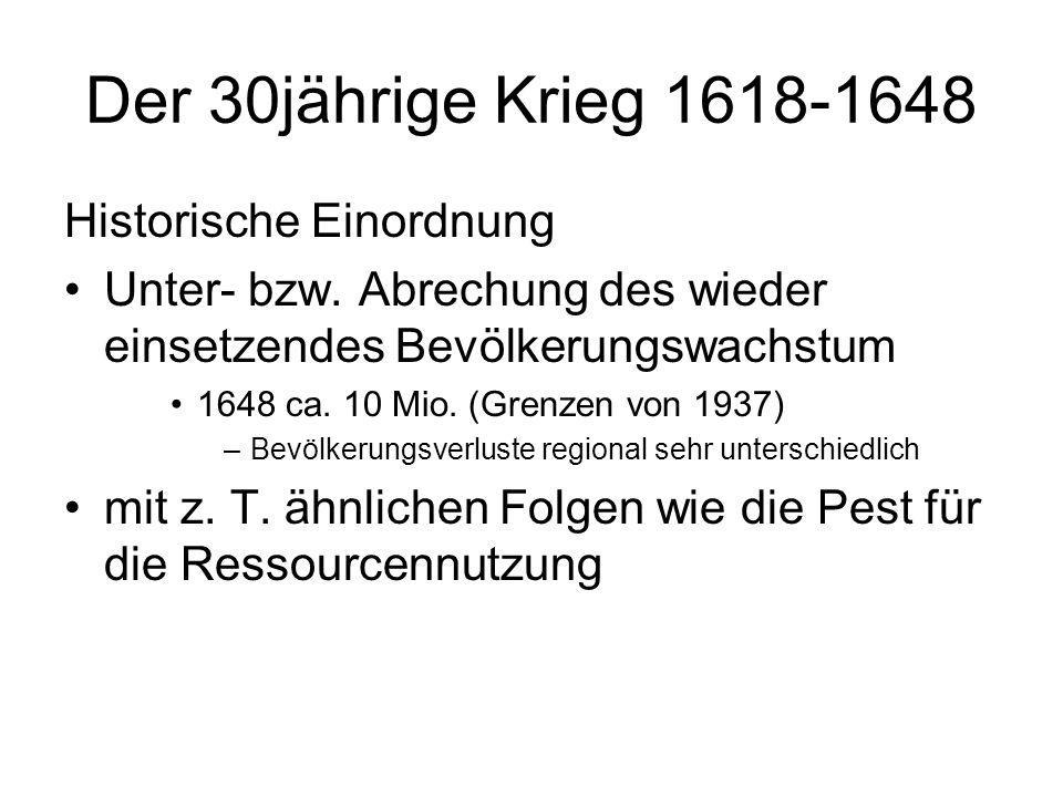 Der 30jährige Krieg 1618-1648 Historische Einordnung