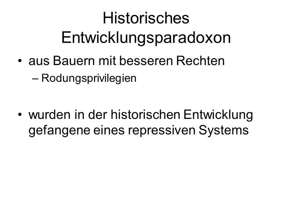 Historisches Entwicklungsparadoxon