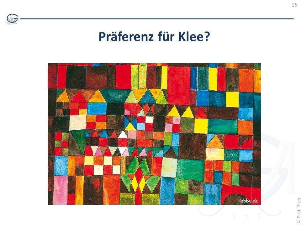 Präferenz für Klee
