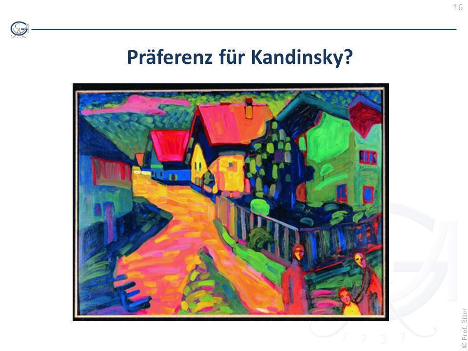Präferenz für Kandinsky